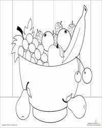 Small Picture Fruit Bowl Worksheet Educationcom