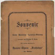 Program: <b>Souvenir</b>. Erste Daemlich Carnveval-Sitzung; Dec. 11 ...
