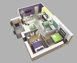 Modern One Bedroom House Plans One Bedroom House Plans 3d And 2 Bedroom House Home And Interior
