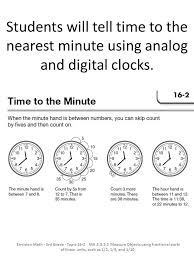 Students tell time to the nearest half hour and quarter hour using ...