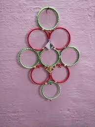 Design With Broken Bangles Wall Hangings With Waste Bangles Indian Baby Showers