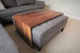 waterfall coffee table ottoman table