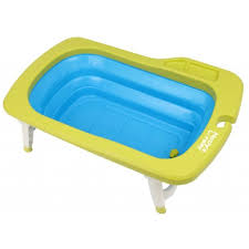 out of stock deluxe folding baby bath tub green blue