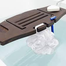 umbra aquala bathtub caddy walnut