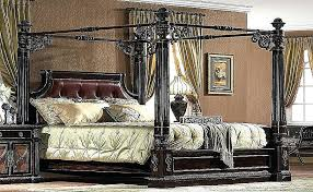Cal King Canopy Bed Frame Beautiful Appealing Wood Pics Design ...