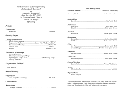 Microsoft Wedding Program Templates Wedding Program Sample Template In Word And Pdf Formats