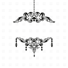 black vintage chandelier silhouette vector image vector artwork of borders and frames mcherevan to zoom