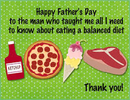 free ecard pregnancy announcement thank dad for telling you the importance of a balanced diet with