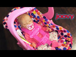 pink joovy toy car seat unboxing with