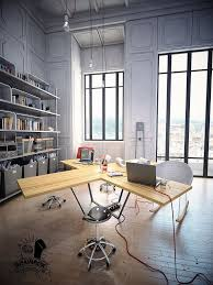 industrial look office interior design. Excellent Industrial Home Office Decoration Ideas With Iron Frame Shelving Look Interior Design