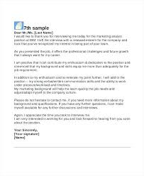 Thank You Letter For Job Reference 9 Thank You For The Interview Letter Samples Sample Templates