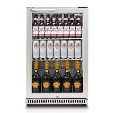 husky single glass door bar fridge stocked