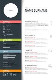 Resume Sample Basic Visual Resume Templates Cool Resume Template