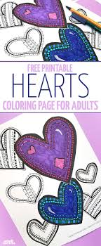 Free Printable Hearts Coloring Page
