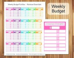Printable Household Budget Worksheets Blank Household Budget Worksheet Printable Weekly Full Box Template