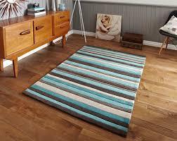 hong kong stripey 2022 brown blue rug