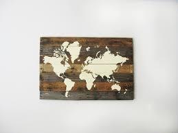 world map wood wall art diy