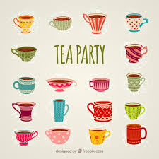 vintage tea cups vector. Perfect Tea Cups For Tea Party Free Vector On Vintage Tea