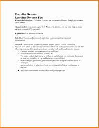 Us It Recruiter Resume Sample Inspirational Recruiter Resume Sample