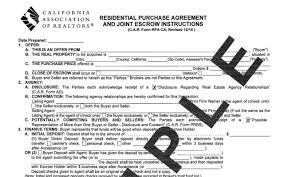 Real Estate Purchase Agreement Template Mesmerizing California Residential Purchase Agreement Sycamore Realty Group