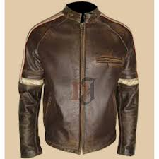 mens hero distressed brown leather jacket men s jackets