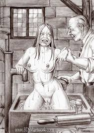 Girl bdsm anal torture art work