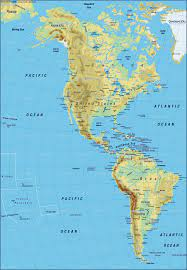 Map of America, map of the world physical (General Map / Region of the  World)