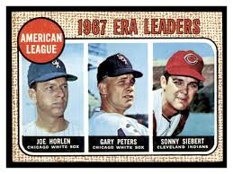 1968 Topps #8 AL ERA Leaders/Joel Horlen/Gary Peters/Sonny Siebert - Scan  of the actual card you will receive - EX-MT - 1,000,000 Baseball Cards |  Beckett Marketplace