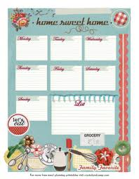 Free Printable Meal Planner – All About Food Storage