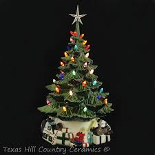 54 Best Ceramic Old Fashion Treeu0027s Images On Pinterest  Ceramic Ceramic Tabletop Christmas Tree With Lights