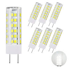 Halogen Replacement Led Lights Dicuno G8 Led Bulb Dimmable 6w Daylight White 6000k 120v Xenon 60w Halogen Replacement Under Cabinet Counter Light 6pcs Note Must Check Size