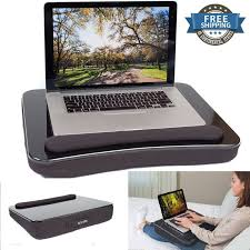 laptop lap desk portable tray with foam cushion travel student bed table stand