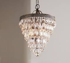 clarissa crystal drop small round chandelier pottery barn with regard to contemporary residence crystal chandelier lighting remodel