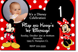 Make Your Own Mickey Mouse Invitations Minnie Mouse Birthday Tarpaulin Invitation Design From