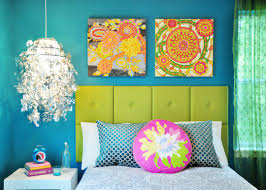 Teal And Orange Bedroom Statement Wall Tps Header Painting Ideas Remodelaholic Decor Idolza