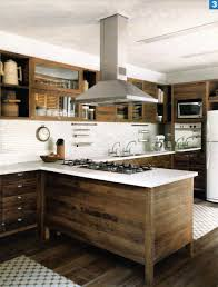 Raw Wood Kitchen Cabinets Modern Kitchen With Raw Wood Cabinets White Back Splash