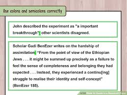 how to quote in a research paper examples wikihow image titled quote in a research paper step 9