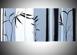 black and white greeting card featuring the painting large wall art triptych hanging chinese painting bamboo on large 3 panel wall art with large wall art triptych hanging chinese painting bamboo art canvas