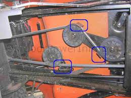 installation repair and replacement of husqvarna lth1538 hydro husqvarna lth1538 hydro drive belt idler pulleys