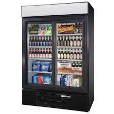 2 sliding door refrigerator merchandiser 52 w