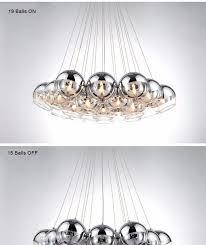 modern chrome glass led pendant chandelier light for living dining study room home deco g4