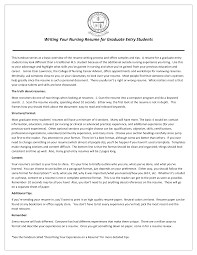 Nursing Student Resume Cover Letter Example Of Cover Letter For