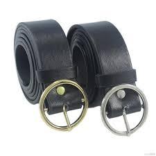 Women <b>New</b> Fashion <b>Round Metal Circle</b> Belts Hot Designer Brand ...