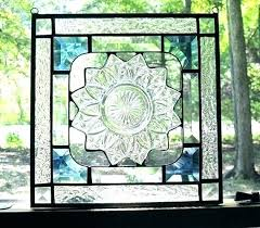 stained glass stained glass hanging panels window panel art large bather with a book hang