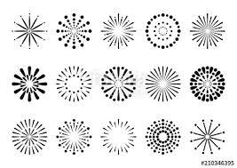 花火 イラスト アイコン セット 黒fotoliacom の ストック画像と