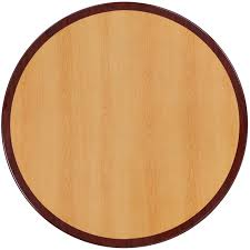 36 round 2 tone high gloss cherry mahogany resin table top with 2 thick drop lip