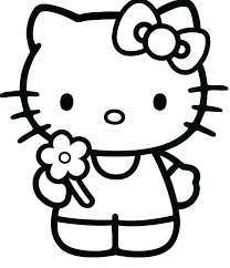 Hello Kitty Printable Coloring Page Kitty Cat Coloring Pages Free