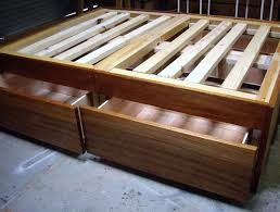 how to make a wooden bed frame with drawers
