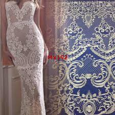 Lace Designs Hot Item 2019 New Fashion Fancy Lace Dress Embroidery Designs Flower Lace Bridal Fabric
