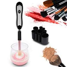 herwiss electric makeup brush cleaner and dryer machine makeup brush cleaning tool with 8 rubber